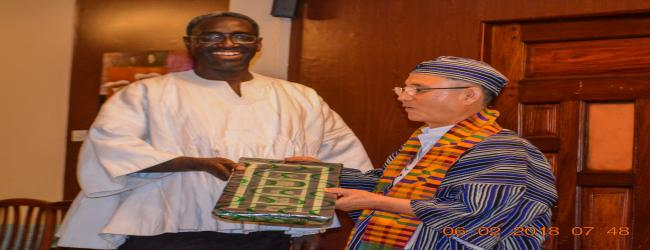 GHANA CIVIL SERVICE SHOWS APPRECIATION TO JAESEONG LEE